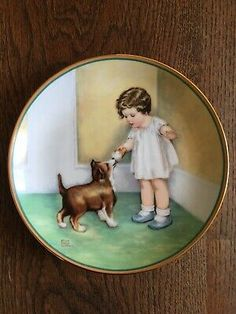 Bessie Pease Gutmann The Reward Ltd Edition Collectors Plate with COA & Boxed