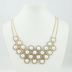Find More Chain Necklaces Information about High quality promotion gold plated Double chain crystal pearl necklace women Fashion necklaces for women 2014 necklace pearls ,High Quality Chain Necklaces from TianXin Jewelry Factory on Aliexpress.com