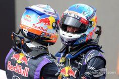Daniel Ricciardo, Red Bull Racing and Sebastian Vettel, Red Bull Racing..1st and 3rd  good job boys!!
