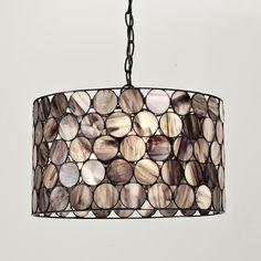 Loving this Smoky Art Glass Circles Shade Pendant..