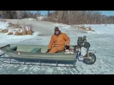 Check Out This Saw Blade-Propelled , John Boat Ice Sled | YouViewed/Editorial