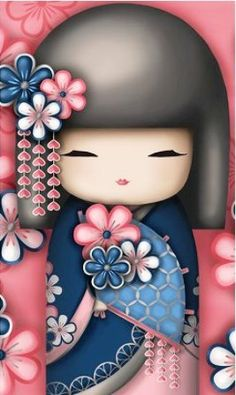 "✿ Kimmidoll Illustration ~ ""Sonoko"" 'Caring Friend' ✿"