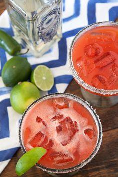 Strawberry Jalapeño Margaritas - What's Gaby Cooking