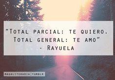 Total parcial: Te quiero. Total general: Te amo. Cortazar