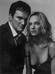Quentin Tarantino and Uma Thurman.