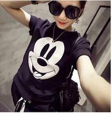 2016 mulheres de verão de Mickey impresso manga curta frete grátis(China (Mainland))