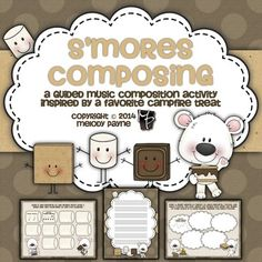 This fun and engaging composition activity was inspired by one of my favorite campfire treats: S'mores! The pages can be used as slides, on iPad or other tablet, printed, and more. Step by step instructions lead students to compose their very own song over a period of days or weeks.