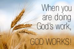 Like a single grain of wheat that falls to the ground (John 12:24), we should all be doing God's work.