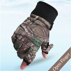 3D Camouflage Non-Slip Cycling Gloves Windproof Tactical Hunting Gloves Touchscreen Outdoor Sport Trekking Hiking Fishing Gloves