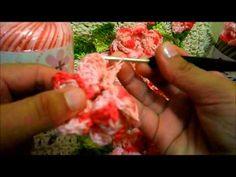 Flor viciadas em crochê(vídeo aula)PARA APLICAR EM TAPETES