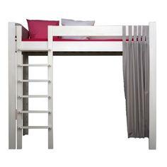 Lit mezzanine enfant mixte 90x200 en bois lit avec un large plan de travail - Lit mezzanine 3 suisses ...