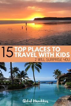 Top 15 places to travel with kids. From beaches to cities, we take a look at the top 15 places we have traveled with kids. Two will definitely surprise you, they surprised us as well. Family Vacation Destinations, Amazing Destinations, Vacation Trips, Travel Destinations, Vacation Ideas, Travel Tips, Travel Advice, Travel Ideas, Vacations