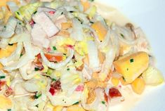Chicory and mango chicory salad Healthy Soda, Good Healthy Recipes, Healthy Drinks, Chicory Salad, Salade Caprese, Quiche, Feel Good Food, Cold Meals, Calories