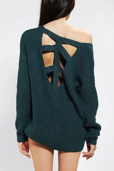 Sparkle & Fade Cross-Back Sweater