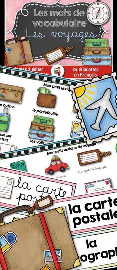 24 Mots-étiquettes sur le thème des voyages. #voyages #travel #littéraie #daily5 #french #FSL