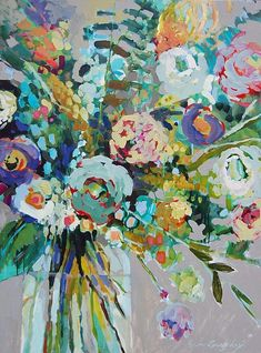 "Erin gregory: Bloom 3, 36"" by 48"" on gallery wrap, $1600"