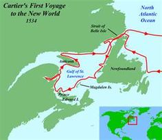 Jacques Cartier's first voyage in the New World (1534)