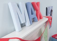 #FabricLetters what a great #nurserydecoration. I wonder if I could make these? #notonthehighstreet