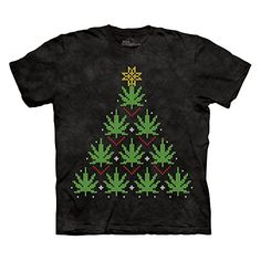 Adult Ugly Christmas Sweater Design - Cannabis Tree T-shirt