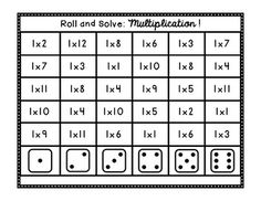 Roll and Solve: Multiplication! Activity Centers, Math Centers, Page Protectors, Multiplication, Teaching, Star, School, Education, Stars