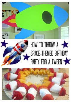 A birthday party with an outer space theme for a tween