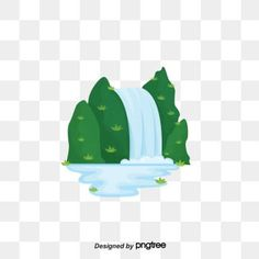 Vector mountain river waterfall mountain PNG and Vector Nature Background Images, Blur Image Background, Portrait Background, Waterfall Scenery, Mountain Waterfall, Cartoon Mountain, Mountain Clipart, Picture Templates, Water Patterns