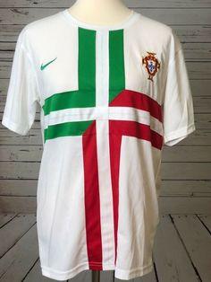 Cristiano RONALDO 7  7 Soccer Jersey Portugal MEDIUM White Real Madrid FIFA  VTG  Nike a3cfbd2be