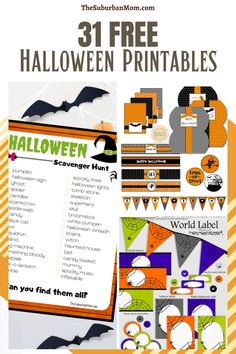 It's time to excite the kids this Halloween with these fun Halloween activities. With this printable pack, you'll never run out of ideas. Check out the blog for more details on over 31 Free Halloween Printables! This collections has the inclusions of fun Halloween activities, Halloween crafts, Halloween home decorations, Halloween countdowns, free printables, Halloween posters, Halloween toppers and so much more! Simply take your pick to celebrate the spooky season! #festivecrafts #octoberdecor Fun Halloween Activities, Halloween Scavenger Hunt, Halloween Crafts For Kids, Halloween Design, Halloween Fun, Halloween Countdown, Halloween Labels, Halloween Poster, Halloween Banner