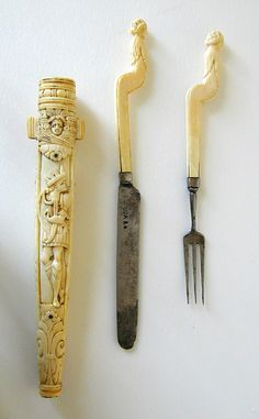 Ivory and silver set,from Netherlands ca  1600-700