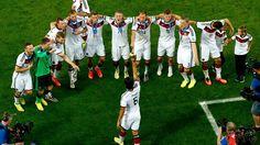 Sami Khedira of Germany raises the World Cup trophy