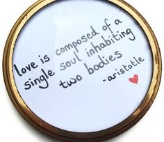 Pair of round gold frames with valentines quote by lishconcepts, £10.00