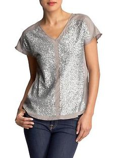 Sequin Panel Top $86.00  PiperLime (of course)