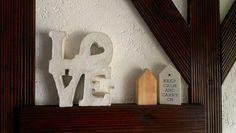 Betondeko concrete crafts concret accessories home accessories Love letters white concret