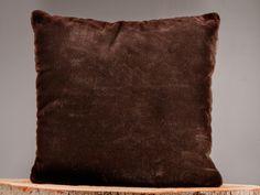 Beaver Fur Throw Pillow