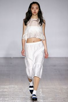 We Dare You To Do The Ultimate Fashion Don't: Nude Pantyhose #refinery29  http://www.refinery29.com/2015/02/82657/mother-of-pearl-nude-panthose-london-fashion-week-2015#slide-1