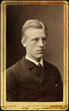 Fridtjof Nansen (1861 – 1930) was a Norwegian explorer, scientist, diplomat, humanitarian & Nobel Peace Prize laureate. In his youth a champion skier & ice skater, he led the team that made the first crossing of the Greenland interior in 1888...Although he retired from exploration after his return to Norway, his techniques of polar travel & his innovations in equipment & clothing influenced a generation of subsequent Arctic & Antarctic expeditions.
