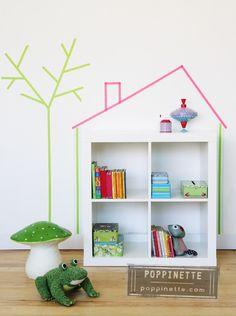 mommo-design.blogspot.com DIY washi tape in the kids room