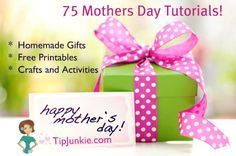 75 things to make for Mother's Day ~ My mother has been dead for many years, as has my mother-in-law. But, I like to do things to honor wonderful mothers that I know on Mother's Day. I am sure that I can get a lot of ideas here! Mothers Day Crafts, Happy Mothers Day, Mother Day Gifts, Fathers Day, Craft Gifts, Diy Gifts, Cheap Gifts, Holiday Crafts, Holiday Fun