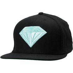 Diamond Supply Emblem Black & Blue Snapback Hat