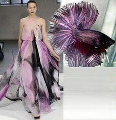 Rodarte Winter 2008 - Fighting Fish Inspired Gowns