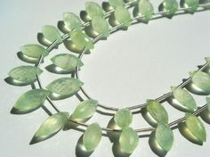 Prehnite Faceted Dew Drops A / 5x9 to 6x13 mm / by beadsogemstone, $19.15