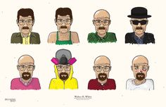 The Evolution of Walter White by Edson Muzada