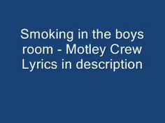 ▶ Smoking in the boys room - Motley Crue - YouTube