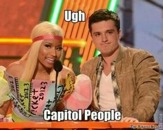 OH MY GOSH!!!! She really DOES look like she is from the Capitol!!! LOL;)