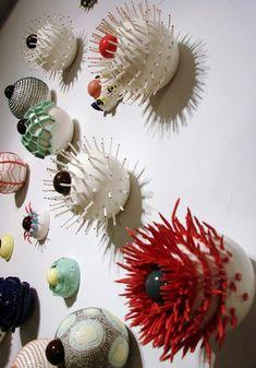 Ceramicist Myung Nam An - wall sculpture
