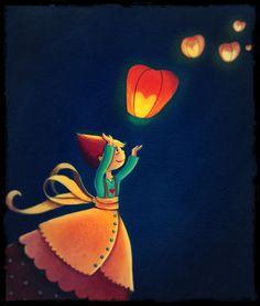 Petits lampions dans la nuit, Marie Cardouat