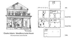 Somerville Massachusetts, Sidelight Windows, Clapboard Siding, Gable Roof, History Projects, Historic Homes, Second Floor, Ground Floor, Floor Plans