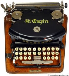 Empire 1 typewriter - 1892 (Martin Howard Collection)