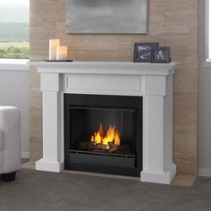 Real Flame Hillcrest White 48-inch Electric Fireplace - 17461457 - Overstock.com Shopping - Great Deals on Real Flame Indoor Fireplaces