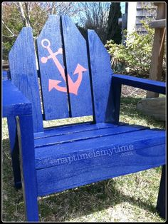 DIY Toddler Adirondack chair with Anchor Decal